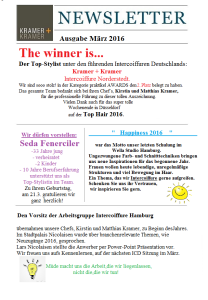 Newsletter – März 2016- Layout